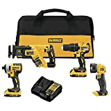 Dewalt DCK476D2 20V MAX Brushless Lithium-Ion Cordless 4-Tool Combo Kit (2 Ah)