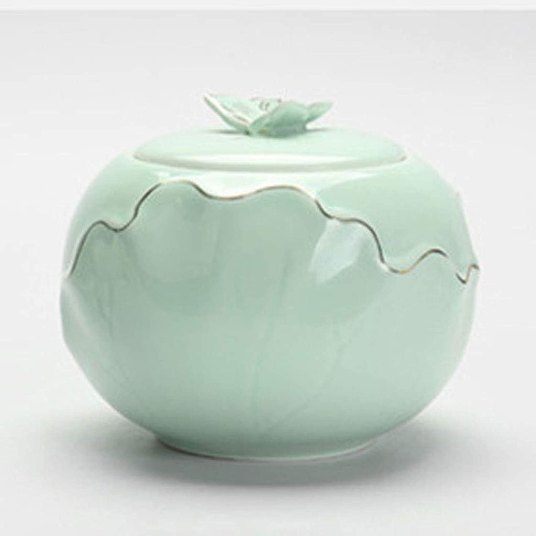 QIYINGYING Pet Urn Puppy Kitten Trumpet Moistureproof Ceramic Urn Jar