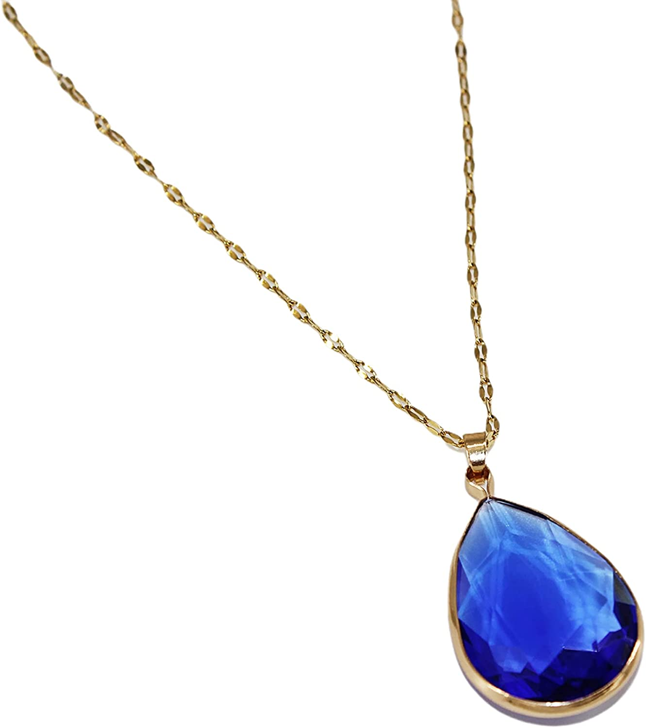 Qianxiang handmade 18K Gold Plated y pendant necklace natural water drop Crystal Necklace adjustable necklace women's necklace 2021