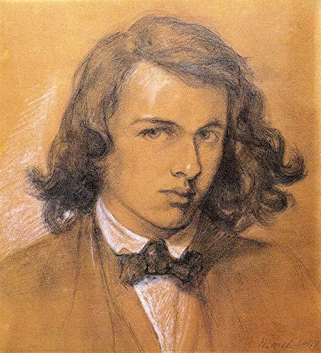 "Dante Gabriel Rossetti Self Portrait 24"" x 22"" Fine Art Giclee Canvas Print (Unframed) Reproduction"