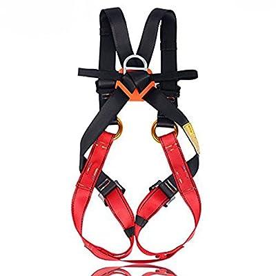Flowersea Full Body Climbing Harness Kids,Flower Sea9 Climbing Harness Safe Belts Guide Harness Mountaineering Outward Band Expanding Training Caving Rock Climbing Rappelling Equip (S(4-10years))