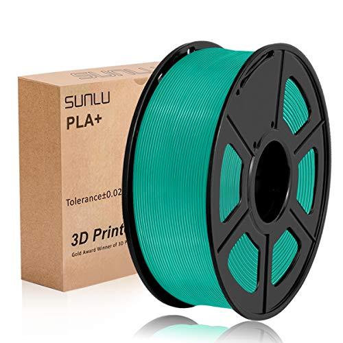 Filamento SUNLU PLA+ verde erba 1,75 +/- 0,02 mm, filamento per stampante 3D PLA Plus 1,75 mm Bobina da 1 kg per la stampa 3D