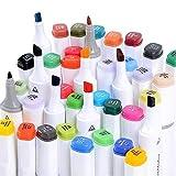 40/60/80 Marker Pens verdoppelt spitzt Marker Stifte für Kunst Sketch Twin färbig Highlighters mit...
