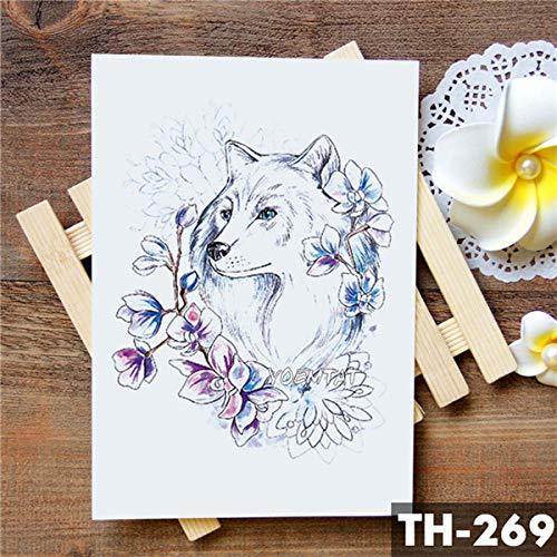 5Pc-Amore Corona Rosa Blu Giglio Fiore Impermeabile Tatuaggio Adesivo Piccione Angelo Braccio Tatuaggi Body Art Tatuaggi Tatoo-In Da 21-Th-269
