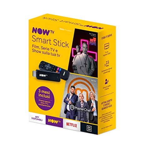 NOW TV Smart Stick con i primi 3 mesi a scelta fra Cinema oppure Serie TV e Intrattenimento| Chiavetta streaming | TV