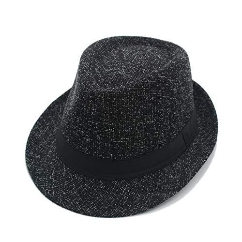 JEEDA Panama Fedora Trilby Derby Hut Bowler Mütze für Herren Damen Filzhut Jazz Hat for Men Women XJS