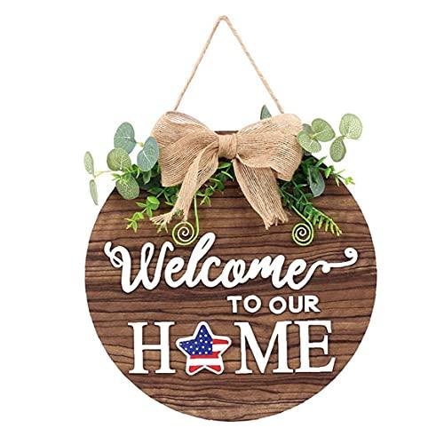 Seasonal Welcome Door Tecken trä ytterdörr Skyltar med 14 Seasonal prydnad till påsk Holiday Porch Rustikt Vägg dekorationer, Front Door Signs