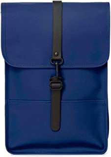 Luxury Fashion | Rains Mens MINIBACKKLE Blue Backpack | Fall Winter 19