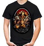 Alf Männer und Herren T-Shirt   Vintage Kleidung Outfit Geschenk   M4 (XL, Schwarz)