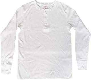 ヘルスニット Healthknit #601L ベーシックワッフル ヘンリーネック 長袖Tシャツ