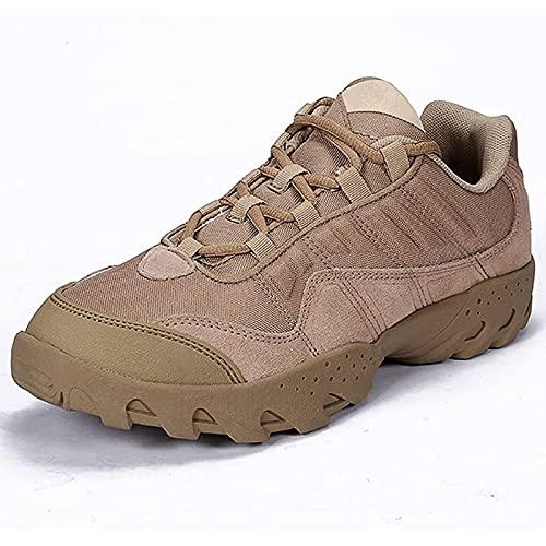 Botas Militares para Hombre Low-Top Impermeable TáCtico Antideslizante Transpirable Aire Libre Patrulla Zapatos de Trabajo En Desierto para Acampar, Senderismo, Trabajo, Caza, MontañA, Paseos