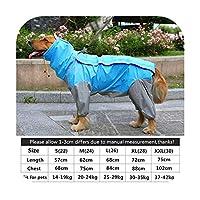 sexy-kawayi 大型犬フード付きコートポンチョペットレインコート大型犬服レインコート防水犬服ポイントポンチョペット服-Sky Blue-28