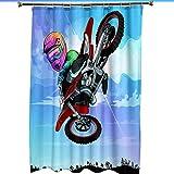 LWQHJJJ Cartoon Motorrad Duschvorhang-200x200cm