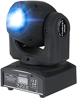 Lixada Moving Head 9 / 11 Channel 8 colours and 8 gobos DJ Light LED Effect DMX-512 for Party Disco DJ Show KTV