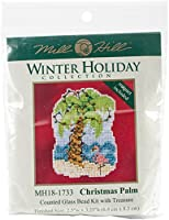 """Mill Hill Counted Cross Stitch Kit 2.5""""X3.25""""-Christmas Palm (14 Count)"""