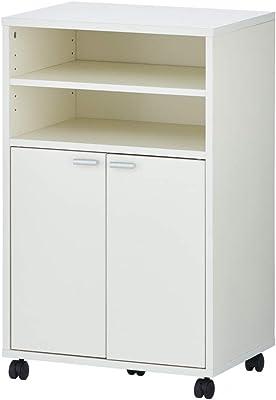 エフワークス(F Works) 食器棚 ホワイト 幅53×奥行39×高さ85cm 188041