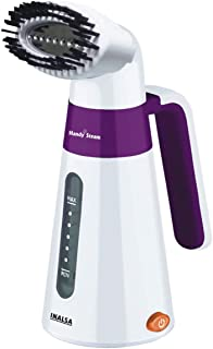 Inalsa Garment Steamer Handy Steam-600W with Detachable Fabric Brush & 120ml Capacity, (White/Purple)