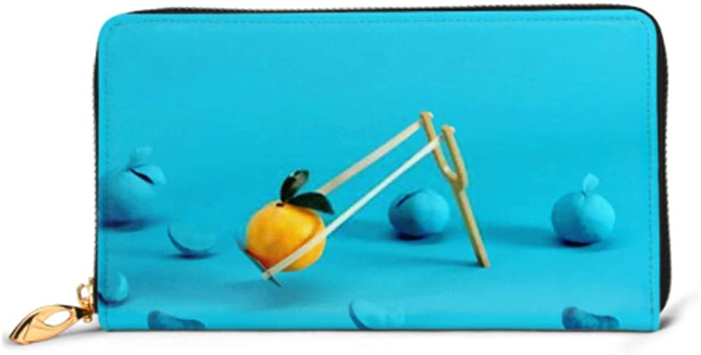 Fashion Handbag Zipper Wallet Outstanding Mandarin Orange Slingshot Surrounded By Phone Clutch Purse Evening Clutch Blocking Leather Wallet Multi C
