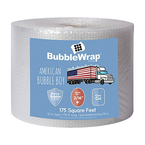Bubble Wrap 175', Small 3/16 Cushioning, 175ft with Perforated Every 12""