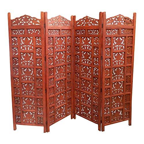 Paravent Cashmere 200 x 182 cm Mangobaumholz Indische Trennwand Raumteiler Möbel Wohnzimmer