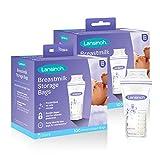 Lansinoh Breastmilk Storage Bags, 200 Count (2 Packs of 100 Bags) Milk Freezer Bags for Long Term Breastfeeding Storage, Pump Directly into Bags, Nursing Essentials