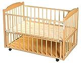 サワベビー D型ジョルノ ナチュラル No.1 ロングユースベッド ベビーベッド キッズベッド 添い寝ベッド 0歳 床板に国産ひのきを使用 日本製