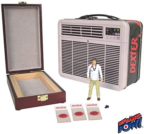 Dexter 3 3 4-Inch Action Figure in Tin Tote with Blood Slide Box by Bif Bang Pow