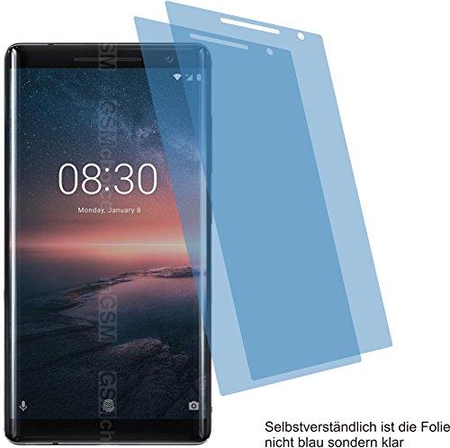 4ProTec I 2X ANTIREFLEX matt Schutzfolie für Nokia 8 Sirocco Bildschirmschutzfolie Displayschutzfolie Schutzhülle Bildschirmschutz Bildschirmfolie Folie