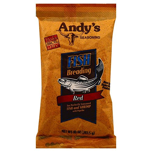 Andy's Fish Breading, Red, 10 Ounces (Pack of 3)