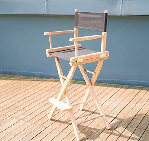 WYJW Opvouwbare outdoor klapstoel, opvouwbare executive houten stoel - Zwarte kinderstoel