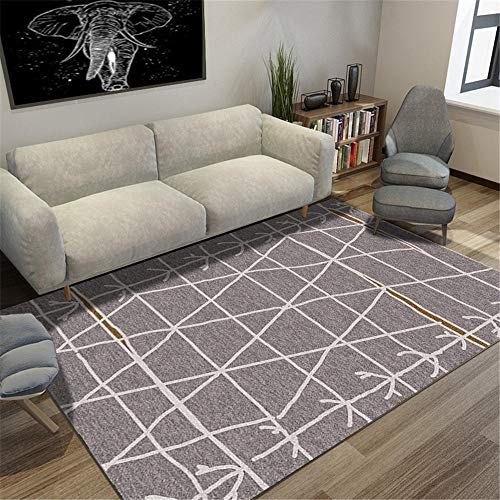 rutschfest Wolldecke Cremiger, weicher Teppich im minimalistischen Design mit geometrischem Muster luxuriös antifouling Wohnzimmer Teppich 180 * 250cm