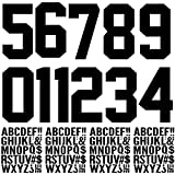 147 Pieces Iron on Letters Iron on Numbers, 8 Inch Iron on Numbers 2 Inch Iron on Letters for Clothing, Iron on Numbers Iron on Letters for Fabric, Clothing, Sports T-Shirt (Black)