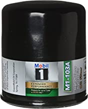 Mobil 1 Oil Filter, Canister, Screw-On, 13/16-16 in Thread, Steel, Black, Various GM Applications, Each