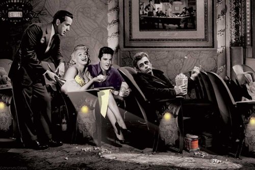Consani Chris Classic Interlude Poster Humphrey Bogart Marilyn Monroe Elvis James Dean 91,5x61 cm