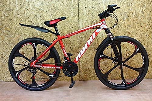 Mountain Bike - 2021 for Men women Junior 26'' Wheel 21 Speed - Red Colour