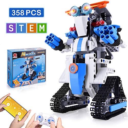 NextX STEM Toys for Boys, Robot Building Set for Kids Remote & APP Controlled Robots Educational Science Toys for Kids