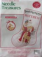 Needle Treasures 父 クリスマス ストッキング クロスステッチキット 02848