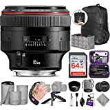 Canon EF 85mm f/1.2L II USM Lens with Altura Photo Advanced Accessory and Travel...