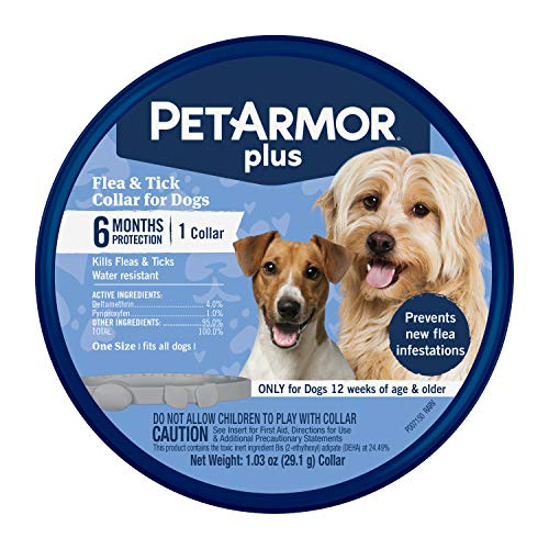 PetArmor Plus Flea & Tick Collar for Dogs, (one Size fits All) - 1 Count (183117)