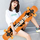 MKJYDM Scooter Maple Long Board Brush Street Dance Board Cuatro Ruedas Doble Skateboard Skateboard Principiante Teen Boy Girl Profesional Skateboard patineta (Color : A)
