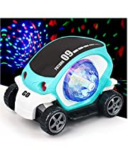 Toyshine 360-Degree Rotating Stunt Car Bump and Go Toy with