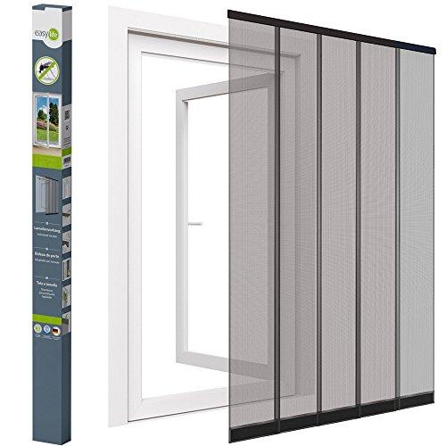 Mosquitera cortina de láminas para puertas - 125 x 240 cm - ajustable individualmente