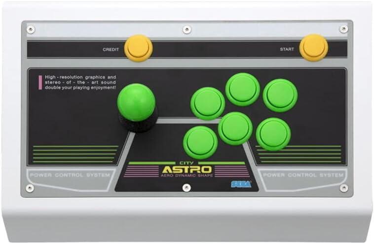 Sega - Sega Astro City Arcade Stick & Green Buttons