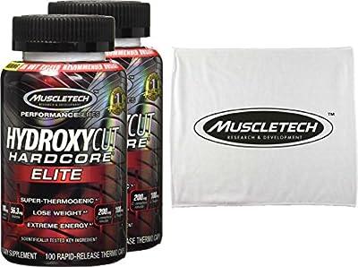 Hydroxycut Hardcore Elite Weight Loss Formula with Svetol Green Coffee Bean, 2 Bottles, 100ct Per Bottle ...