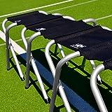 FORZA Banco Jugadores para Equipos de Fútbol – Marco de Aluminio (3 Tamaños) (4 Asientos)