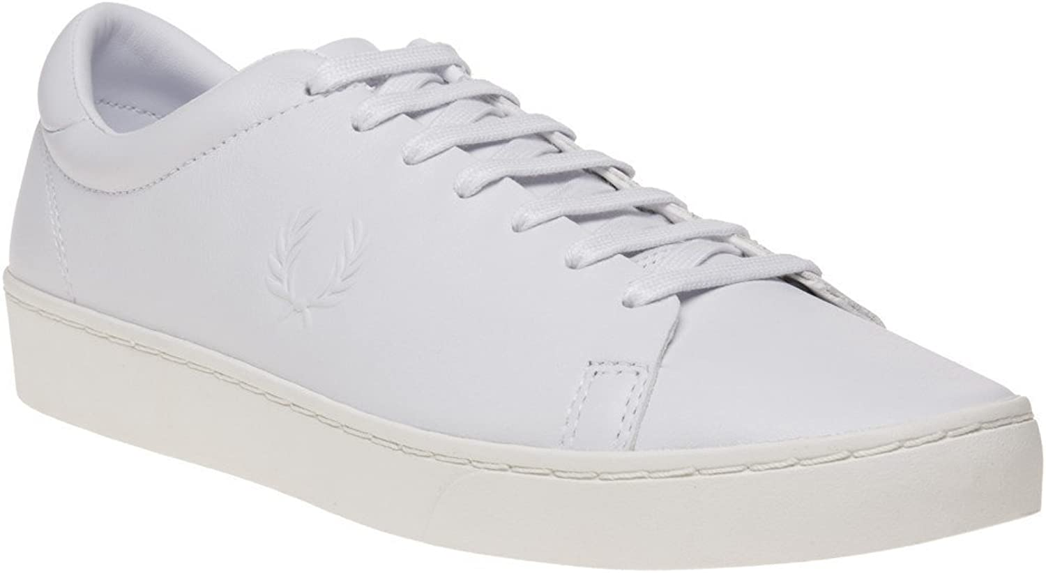 Fred Perry Spencer Premium Leather Trainers White