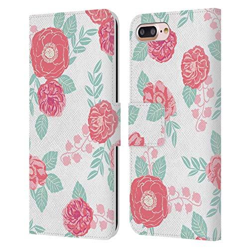 Head Case Designs Licenciado Oficialmente Charlotte Winter Blossom Blanco Floral Carcasa de Cuero Tipo Libro Compatible con Apple iPhone 7 Plus/iPhone 8 Plus