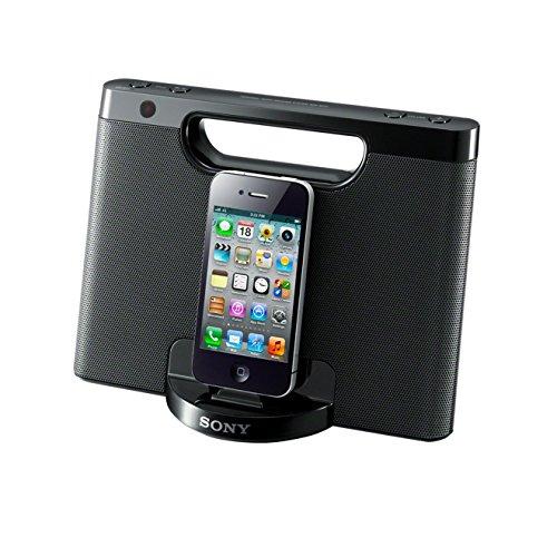Sony RDP-M7IPBN Lautsprecher mit Docking Station für Apple iPod/iPhone 5 schwarz