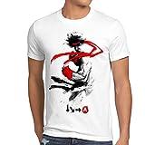 style3 Childhood Hero Fighter T-Shirt da Uomo Final Street Beat Em up Arcade, Colore:Bianco, Dimensione:4XL