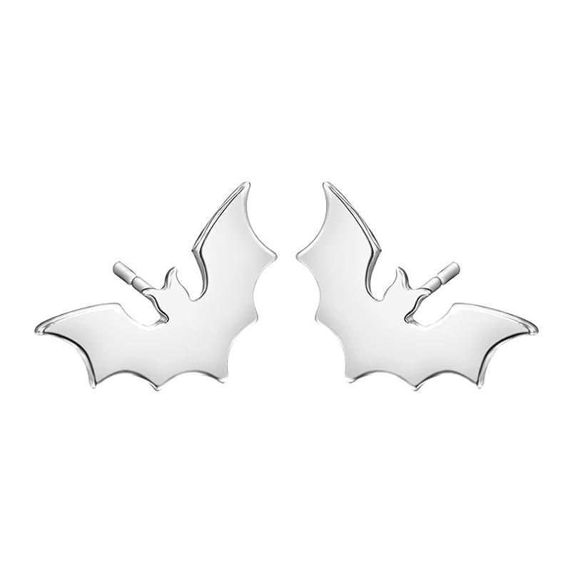 MUZHE?Trendy Small Bat Stud Earrings Jewelry Gothic earing for women Vampire Animal stud earrings Spooky Gifts ionpjkmx970681